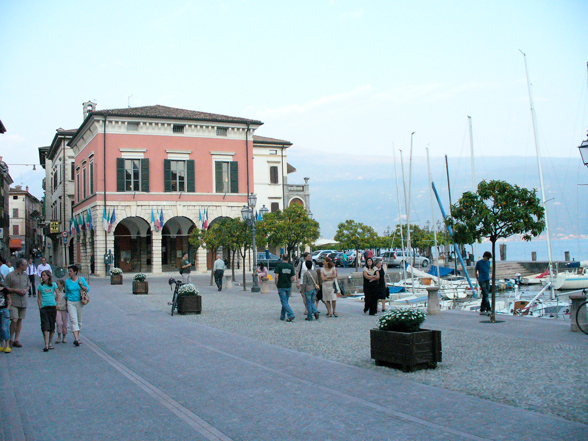 the center of Gargnano Garda Lake