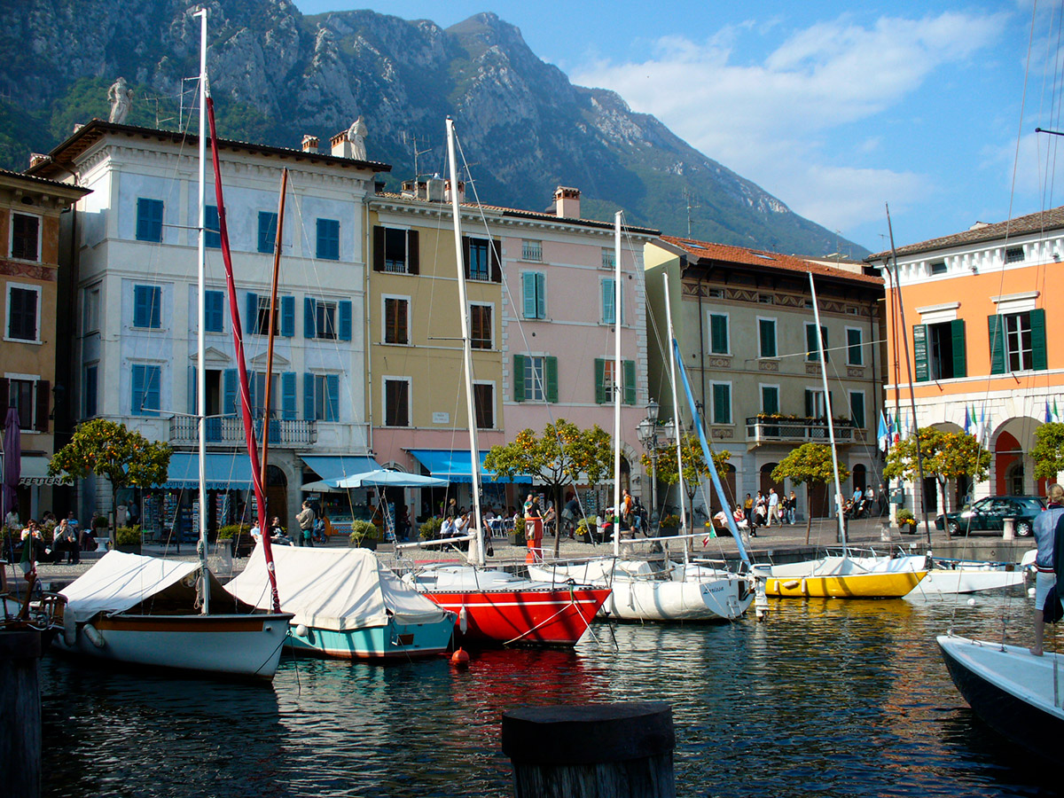 The harbor of Gargnano Garda Lake